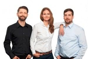Leonard Oschütz (CCO & Co-Founder), Adrienne Fischer (CEO), Christian Guder (CTO & Co-Founder)