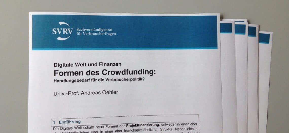 Interview Prof Oehler Sachverstaendigenrat für Verbraucherfragen