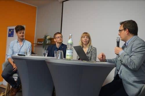 v.l. Florian Glatz, Dalibor Cerny, Nele Wollert, Philipp Sandner