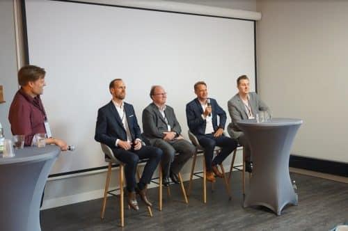 v.l. Tilman Lüder, Thomas Dünser, Graham Dick, Roberts Michels, Hagen Weiss
